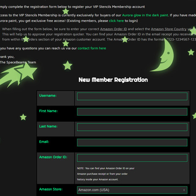 VIP Membership Registration